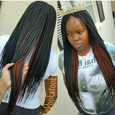 Box braids. Layer ombre.
