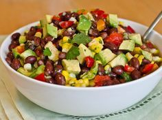 Black Bean, Corn, and Red Pepper Salad with Lime Cilantro Vinaigrette   Serious Eats : Recipes