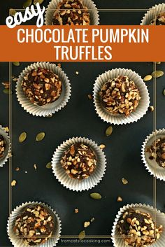 Easy Chocolate Pumpkin Truffles - These Easy Chocolate Pumpkin ...