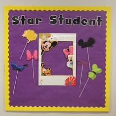Student of the Week board~  Mickey Mouse classroom decor!  If you love Mickey Mouse, you will love these decorations from Eureka!