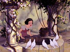 Snow White and the Seven Dwarfs the wishing well Disney Princess Wiki, Disney Wiki, Disney Magic, Disney Princesses, First Animation, Animation Film, Disney Animation, Disney World Facts, Disney Parks