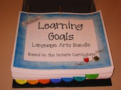 learning goals binder- way to organize them in an easy-to-post way!