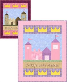 Daddy's Little Princess Girl Baby Quilt Pattern
