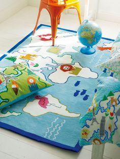 Around the World rug! Perfect for a kid's room or playroom