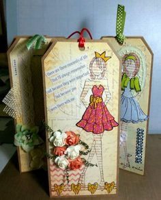 Doll tag with Prima Doll Stamps