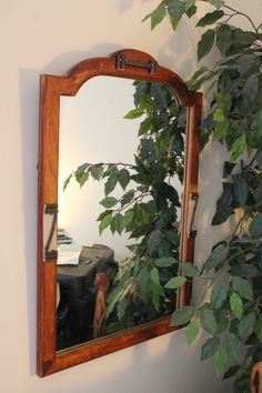 Vintage Old Mirror with Rustic Cabin Flair by WildWoodBarkArt