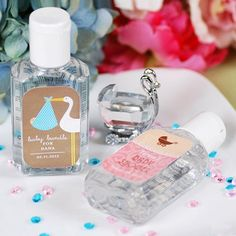 Shower Favors: Personalized Baby Shower Hand Sanitizer by Beau-coup