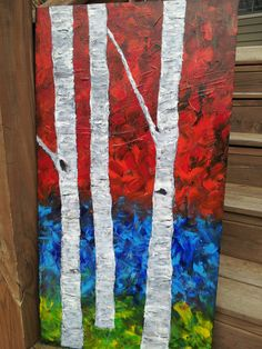 A sample of what will be on site at #EtsyFest15 on Saturday, April 25 in Hillcrest! @Etsy #etsy #etsylr #handmade #shoplocal #livelocal 19 x 36 Large Original Abstract Trees by 1sassycreation on Etsy