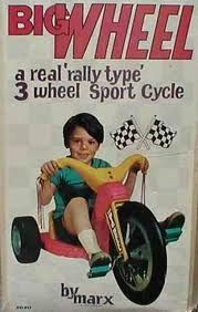 Big Wheel: invented by Xavier University alum Ray Lohr for Marx Toys in Erie PA 70s Toys, Retro Toys, Retro Games, Childhood Toys, Childhood Memories, Big Wheel, I Remember When, My Youth, Ol Days