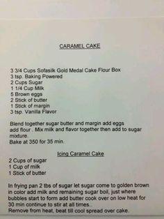 Carmel Cake