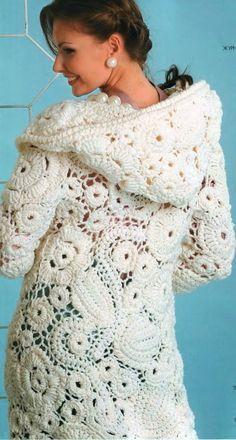 Letters and Arts of Lala: Coat: Crochet Irish / Irish Lace (www.pinterest.com - no recipes