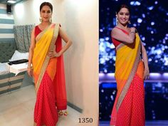 Color: Yellow, Red Collection: Bollywood Replica Saree Fabric: Thousand Beauty, Pallu Silk Jacquard Blouse Fabric: Silk Jacquard Patticoat Fabric: Not Available Work: Lace Work Weight: 1 Kg Occasion: Bollywood Style, Party Wear, Events, Wedding, Awards, Functions Time to Ship:Ready To Ship Wash Care: Recommends Dry Wash Only.