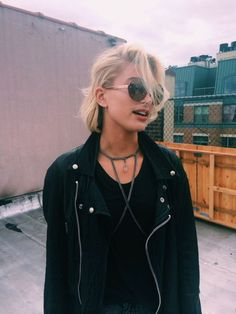 Jacket: black leather black short hair dope perfecto body chain choker necklace 90s style soft