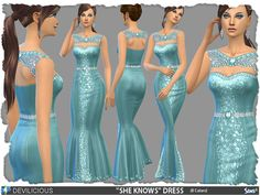 SHE KNOWS Dress by Devilicious at TSR via Sims 4 Updates