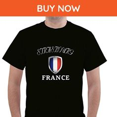 FRANCE STRASBOURG Unisex Short Sleeve T Shirt - Cities countries flags shirts (*Amazon Partner-Link)