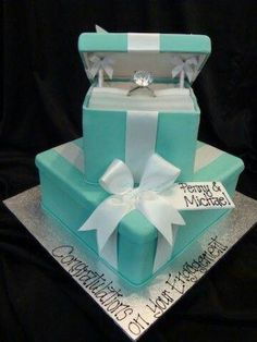 Beautiful Engagement Cake With Ring ThemePNG
