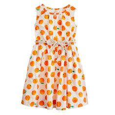 This JCrew dress is super cute - but I can't bring myself to pay $69.50 for a sundress for a 7 year old!  Maybe I (aka my mom) could make one!