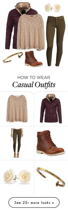 """Casual-6"" by madmaddy33 on Polyvore featuring Barbour, MANGO, Bling Jewelry, Hudson, Timberland and Giles & Brother"
