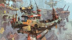IAN MCQUE | CONCEPT ART - Such perfect lighting and coloring.. Love it!