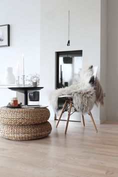 I am in love with the Alseda footstool from IKEA. I bought two today!