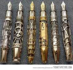 Absolutely Beautiful Hand Made Skeleton Fountain Pens…