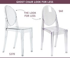 ghost chair look for less - $370 vs $60 #desk #dining