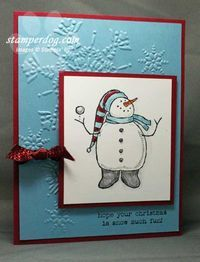 Stampin' Up!  Snow Much Fun Christmas Card