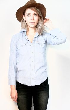 Wrangler Western Style Shirt XS Pearl Snap Buttons by Felonwood