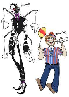 Marionette and Balloon boy by BlasticHeart on deviantART FNAF FNAF FNAF 2 FNAF