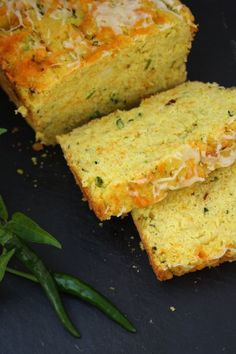 Zucchini Cornbread Wet Ingredients:  220 ml (1 cup) milk (I used goat's milk) 100 gr (1 cup) grated courgette/zucchini 2 eggs 1/2 large onion, finely chopped 55 ml (1/4 cup) olive oil 2 green chillis/jalapenos, finely chopped Dry Ingredients:  190 gr (1  1/4 cups) cornflour (arepa flour) or polenta/cornmeal 150 gr plain flour 1 tbsp sugar 4 tsp baking powder 1 tsp salt 1/2 tsp dried chilli flakes 1/2 tsp turmeric (for colour) not necessary if you are using polenta/cornmeal 1 few sprigs of…
