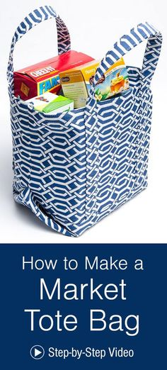 With an open top and a flat bottom, this tote is perfect for trips to the grocery! Sew up your own market tote bag with these video instructions from Sailrite!