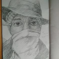"""""""The Boogieman  #instaart #pencil #sketchbook #drawing #illustration #portrait #blackart #youngblackartists #mosdef #thenewdanger"""""""