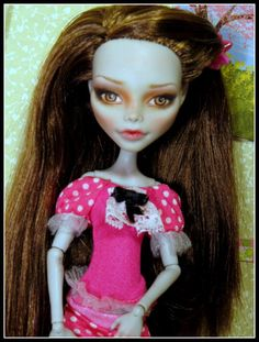 Ghoulia Yelps Monster High Doll Repaint  Custom by Fantasydolls ETSY on Sale