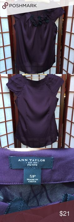 Ann Taylor Silk Top Size medium 💯 %silk. Perfect Career Top Small Petite Ann Taylor Tops Blouses