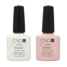 CND Shellac French Manicure Kit Coat Color Nail Polish Gel White Pink Pedicure *** You can find out more details at the link of the image.