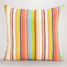 Bali Stripe Toss Pillow at Cost Plus World Market