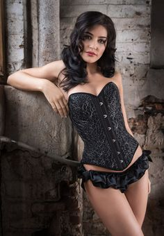 Popular types and shapes of corsets and how to wear them for various occasions and styles - goth, rockabilly/pinup, steampunk, burlesque, vintage, Victorian.