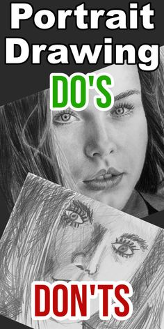 Portrait Drawing Do's Drawing Lessons, Drawing Tips, Art Lessons, Drawing Tutorials, Free Tutorials, Drawing Ideas, Realistic Pencil Drawings, Face Drawings, How To Do Drawing