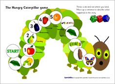 Hungry Caterpillar game (SB2195) - SparkleBox- I could tweak this into becoming a retelling or summarizing activity- RRM