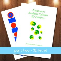 Montessori Knobless Cylinder Extension Patterns & 3D by jojoebiGet your at http://www.etsy.com/listing/179140550/montessori-knobless-cylinder-extension #montessori $5