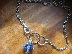 Something Blue - anklet or bracelet - perfect touch of sparkle for a lovely bride! $16