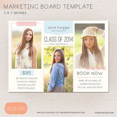 This digital marketing board will be perfect to use as flyer, postcard, photo newsletter, mini session announcement, promo or blog board. It can be