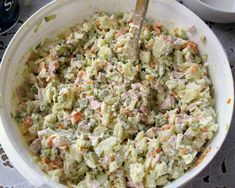 Russian_Salad_Olivier Russian: Салат Оливье, The original version of the salad was invented in the 1860s by Belgian Lucien Olivier, the chef of the Hermitage, one of Moscow's most celebrated restaurants. Olivier's salad quickly became immensely popular with Hermitage regulars, and became the restaurant's signature dish.