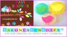Pajaritos en jabón de glicerina - Ideal para recuerdo de baby shower, maternidad, bautizo.