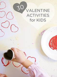 The MOTHER-LOAD of Valentine activities for kids (toddlers, preschoolers, and any other hands-on kids) covers everything from cards to treats. With 30 Valentine activities for kids here, this should keep us all busy until St. Patrick's Day!