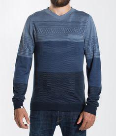 Skumring V- Neck Mens Blue