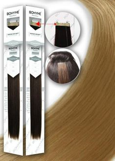 """'Tape in Extensions'-1.5"""" ADHESIVE SKIN WEFT by BOHYME® 100% Remy Human Hair - Waba Hair and Beauty Supply"""
