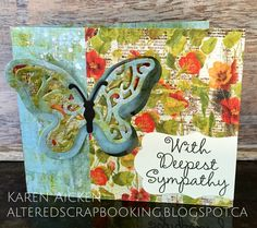 Karen Aicken using the Pop it Ups Butterfly Pivot Card and Katie Label dies by Karen Burniston for Elizabeth Craft Designs. - Altered Scrapbooking: Butterfly Pivot Sympathy Card