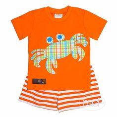 8215541d4 Millie Jay Crab Appliqued Boys Shorts Set - Madison-Drake Children's  Boutique - 1 Drake