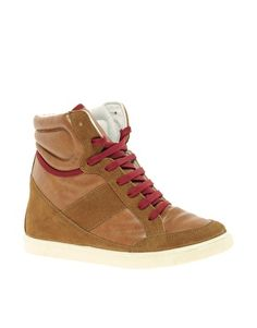 ASOS+DENY+Wedge+High+Top+Trainers+With+Suede+Detail
